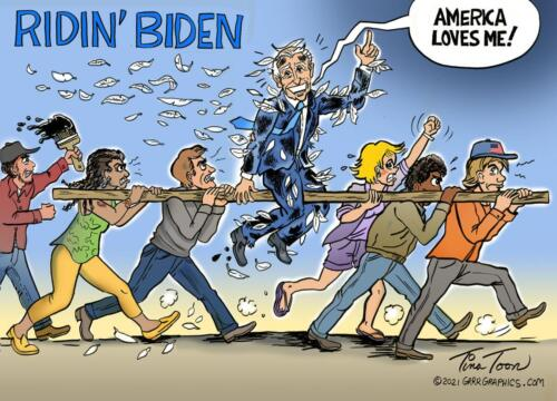 riding biden out of town on a rail-Tina-Toon